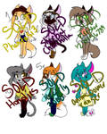 Free Kitty Adoptables((CLOSED)) by SpaceyJessi