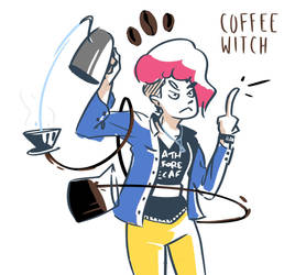 coffee witch by ransomarceihn