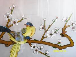 Cool glass window at the restaurant of birds by GeneralDurandal