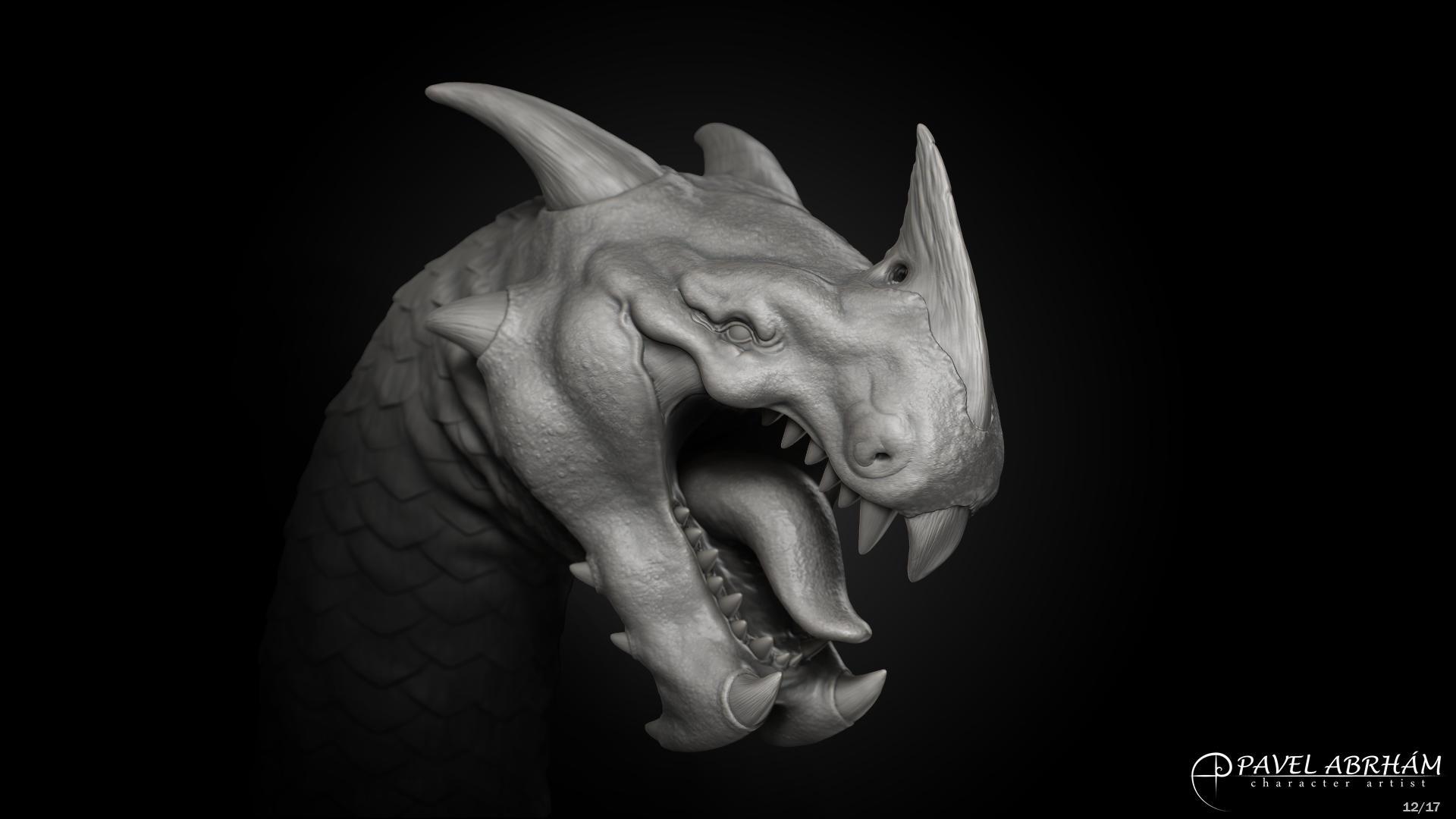 Dragon head by Pavel-Abrham