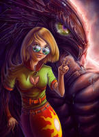Monster Behind by Lun-art