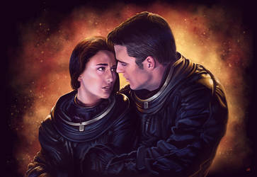 Farscape Crichton and Aeryn Sun by Lun-art