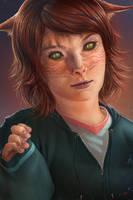 Cat Girl by Lun-art