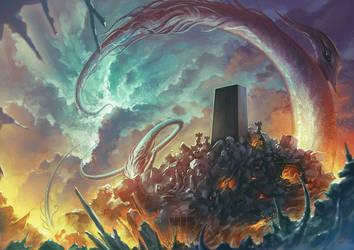 Lovecraft Monolith by Lun-art