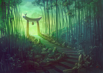 Torii Shrine by Lun-art