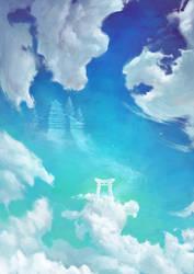 Torii In The Sky by Lun-art