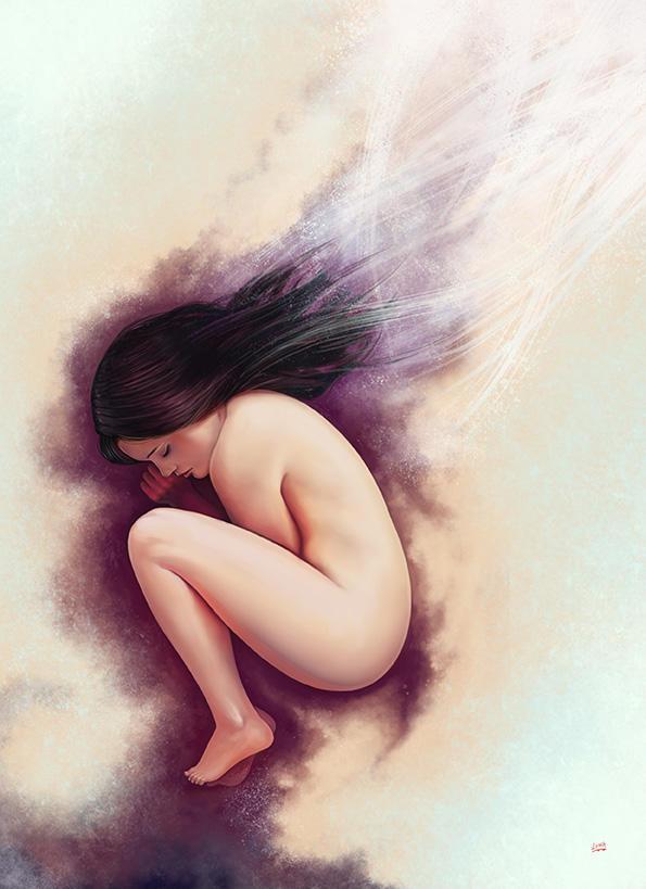 Girl Egg by Lun-art