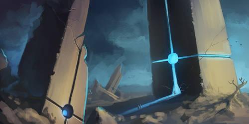 Gatescape Speed Paint by Lun-art