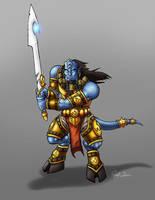 Draenei Warrior by XenohybriD