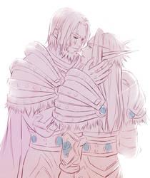 Thassarian and Koltira by genmuku