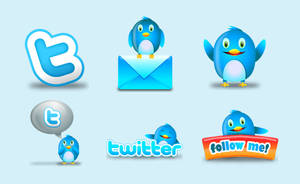 Twitter Icon Set - Fluzzy by hongkiat
