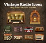 Vintage Radio Vector Icons by hongkiat