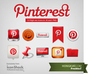 Pinterest Iconset by hongkiat