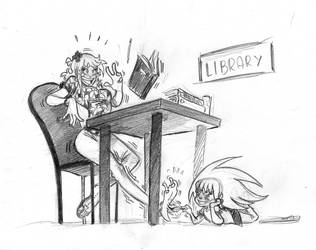 Be quiet in the library by EveryDayComix