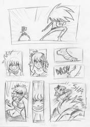 Sandy vs  Melyssa Battle Sketched Part 1 of 4 by EveryDayComix