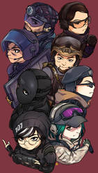 R6 Siege Operator Year2 Phone Wallpaper by EDICH-art
