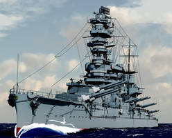 The Battleship Fuso by morokko2