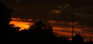 Dark Orange Sky by todaywiththeCJB