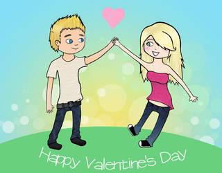 happy valentine's day by Raisa-Doodle