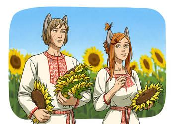 sunflowers by CarassiusVigorous