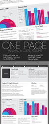 Clean One Page Resume by KaixerGroup
