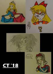 Gift - Anime Heroines and Disney Princesses by KaumiThomason