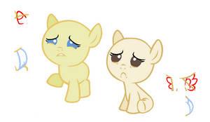 Sad Babies base by 101PandaManiac101