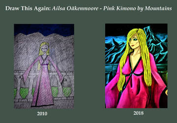 Draw This Again - Ailsa - Pink Kimono by Mountains by IorwenWillowDavis