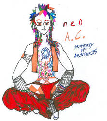 neoA.C. clothing, hair, tattoo by ArynChris