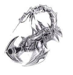 bio-mechanical scorpion by Sidesane