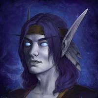 Void elf portrait by Oxanta