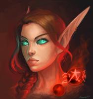 Blood elf monk by Oxanta