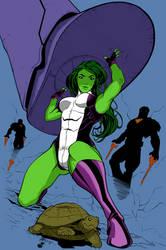 She-Hulk Colour Practice by OkdroMasterOfRunes