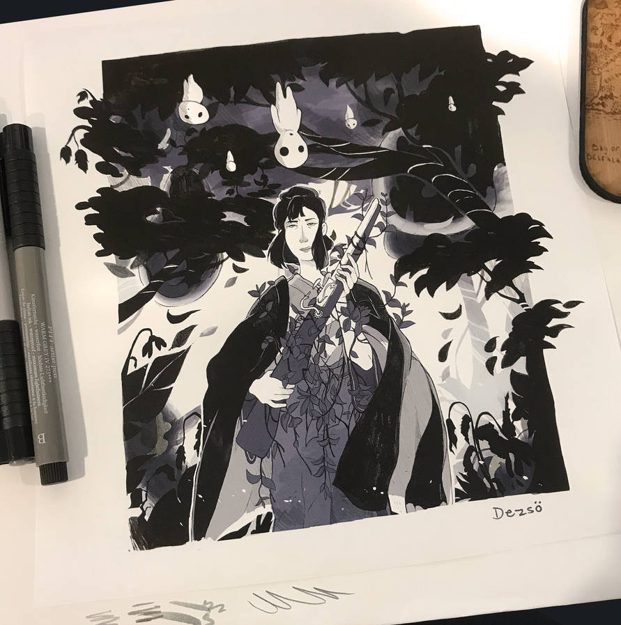 #Inktober - October 1st (2018) by D-ElaineDezso