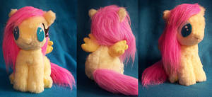 Filly Fluttershy plushie by Voodoo-Tiki