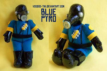 Blue Pyro plushie by Voodoo-Tiki
