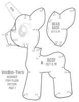 Beginner Pony Plushie Pattern 1 by Voodoo-Tiki