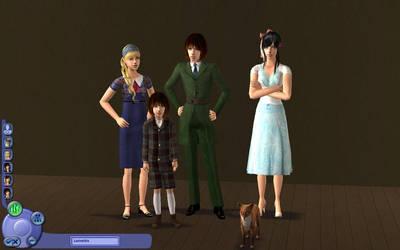Sims 2 - Lorinaitis familiy by SexxiVexxi