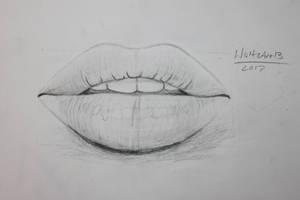 Lips Drawing by WolfzArt13