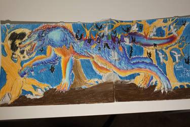 My Werewolf Drawing by WolfzArt13