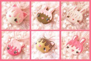 Animal Cookie Necklaces by ChibiWorks