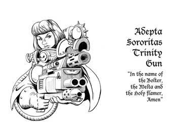Adepta Sororitas Trinity Gun- inked by Kumanagai
