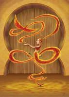 Furora the Incandescent, Fire genie by Kumanagai