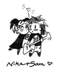nika and sam by toxic-fairie