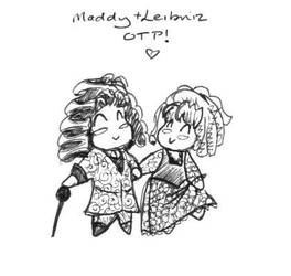 Maddy and Leibniz OTP by toxic-fairie