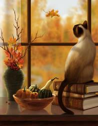 Autumn Window by Shorra