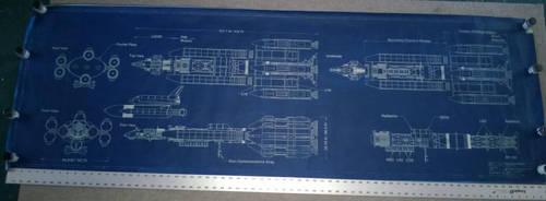 'Deep Impact' Messiah cyanotype blueprint by Scott-Lowther