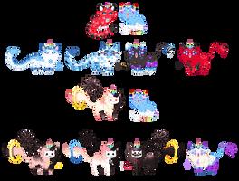 Breeding: Lyra x Frost, Kyub [CLOSED] by Quapon