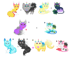 Unicat Breeding Project - Fluffy Cosmic [CLOSED] by Quapon