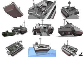 PAX Class Amphibious Transport by JazzLizard